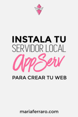 Instala tu servidor local con AppServ