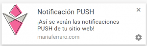 Crear Notificaciones Push Web Blog WordPress