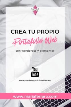 Cómo crear un Portafolio o Curriculum Web con WordPress y Elementor